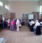 St Cuthbert's meeting room being used for a Neighbourhood Forum